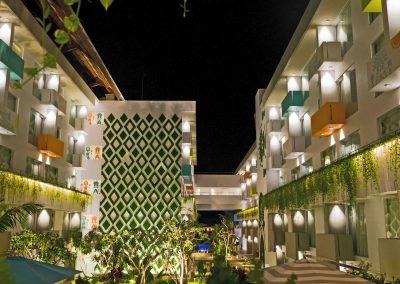 Tijili Benoa Courtyard Night