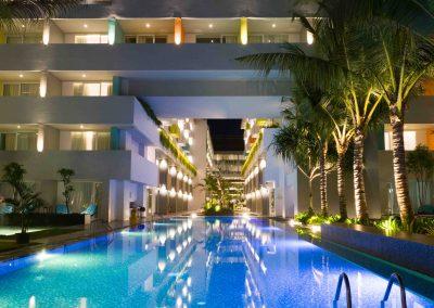 Tijili Benoa Main Pool Night