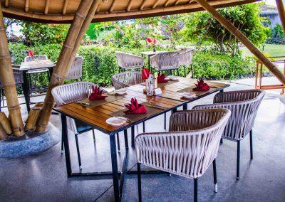 Warung bamboo Tables